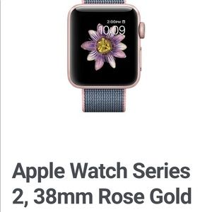 APPLE WATCH SERIES 2 38mm ROSEGOLD WITH NYLON BAND